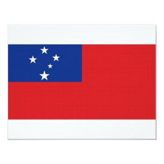 "Samoa National Flag 4.25"" X 5.5"" Invitation Card"