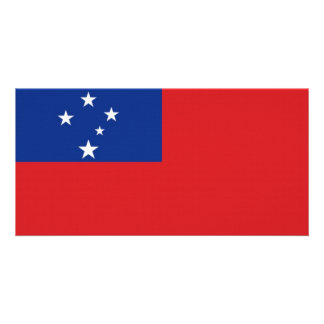 Samoa National Flag Picture Card