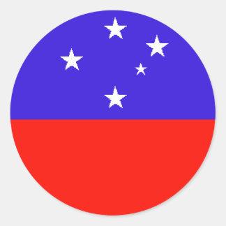 Samoa Occidental Pegatina Redonda