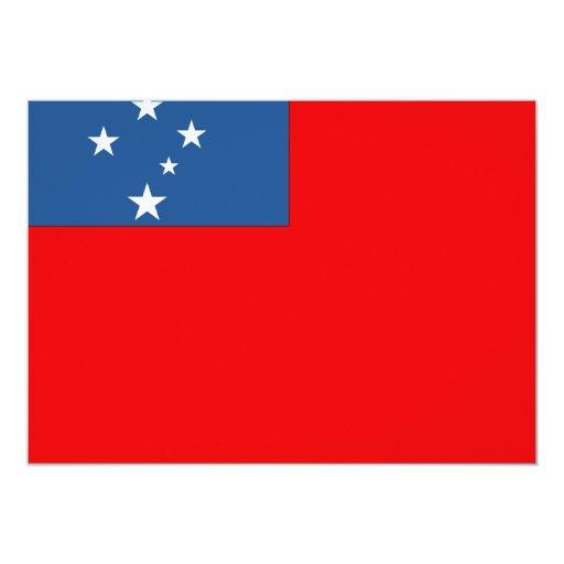"""Samoa Occidental señala por medio de una bandera Invitación 5"""" X 7"""""""