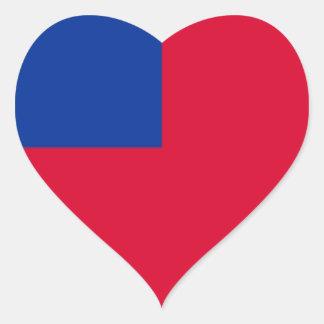 Samoa Pegatina En Forma De Corazón
