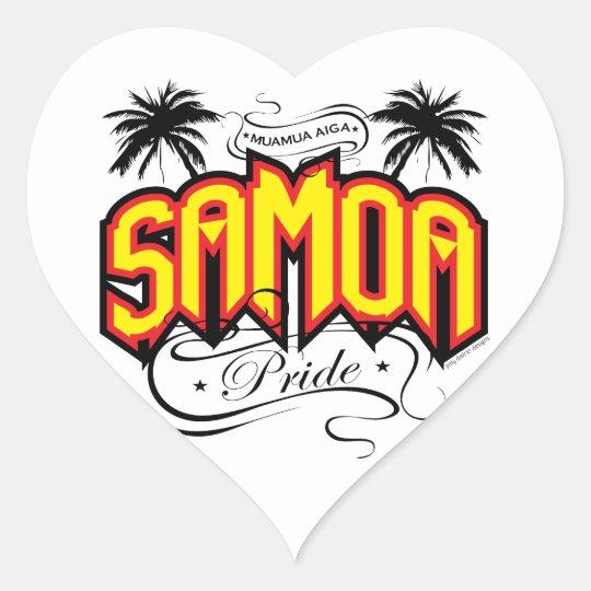 Samoa Pride Heart Sticker
