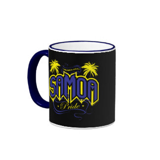 Samoa Pride Ringer Coffee Mug