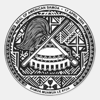 SAMOA PEGATINA REDONDA