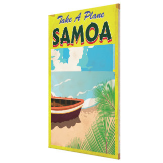 Samoa Vintage Travel Poster Canvas Print