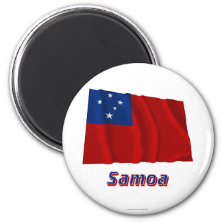 Samoa Waving Flag with Name Magnet
