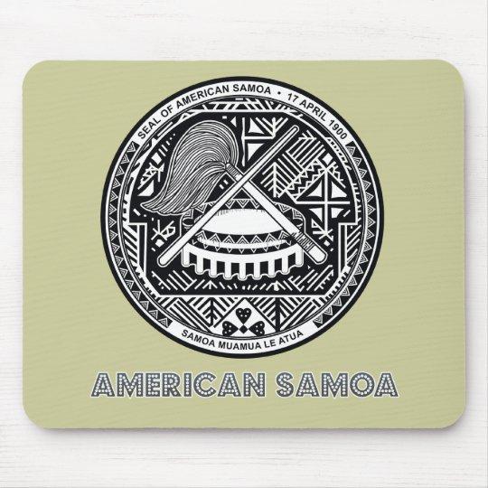 Samoan Emblem Mouse Pad
