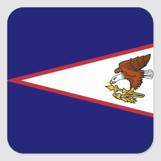 Samoan Flag Square Sticker