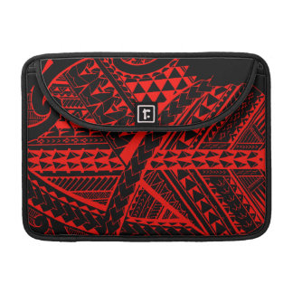 Samoan/Polynesian tribal shapes and symbols Sleeve For MacBook Pro