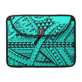Samoan/Polynesian tribal shapes and symbols Sleeve For MacBooks