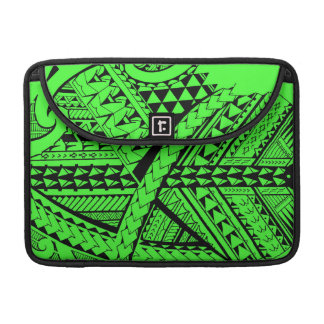 Samoan/Polynesian tribal shapes and symbols Sleeve For MacBooks