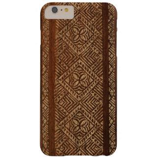 Samoan Tapa Hawaiian Faux Wood Surfboard Barely There iPhone 6 Plus Case