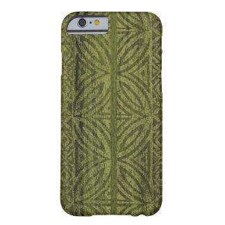Samoan Tapa Hawaiian Faux Wood Surfboard Barely There iPhone 6 Case