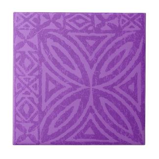 Samoan Tapa Polynesian Flower Tile Trivets