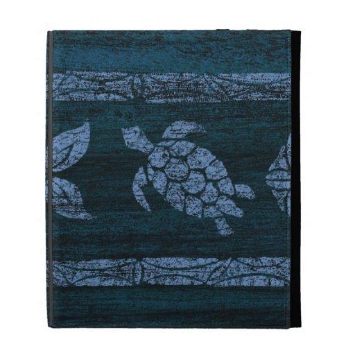 Samoan Tapa Tropical Faux Wood iPad Folio iPad Folio Cover