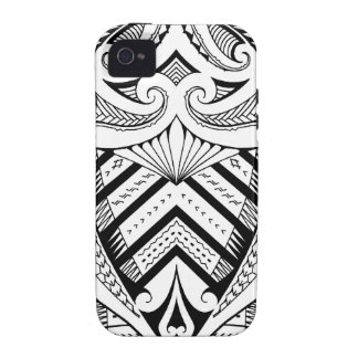Samoan tattoo design art pattern iPhone 4/4S case
