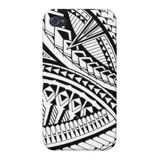 Samoan tattoo pattern cover for iPhone 4