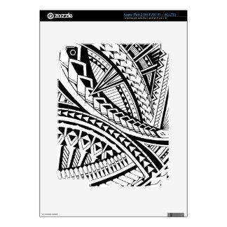 Samoan tattoo pattern skin for iPad 3