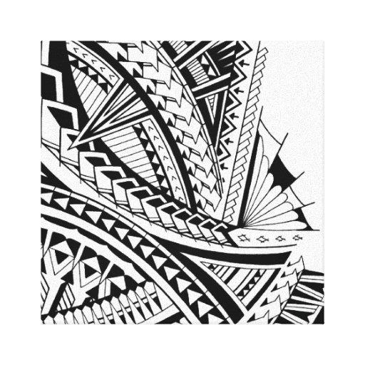 Polynesian Tribal Wallpaper: Samoan Tribal Tattoo Art Canvas Print