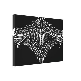 Samoan tribal tattoo design canvas print