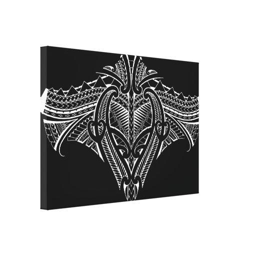 samoan tribal tattoo design canvas print zazzle. Black Bedroom Furniture Sets. Home Design Ideas