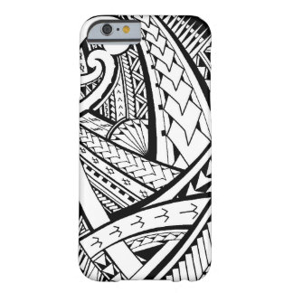 Samoan tribal tattoo design with spearheads barely there iPhone 6 case