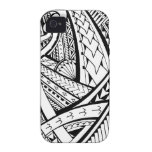 Samoan tribal tattoo design with spearheads iPhone 4 case