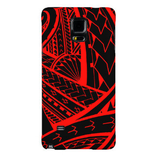 Samoan tribal tattoo design with spearheads galaxy note 4 case