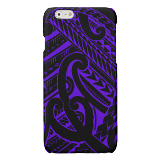 Samoan tribal tattoo design with spearheads glossy iPhone 6 case
