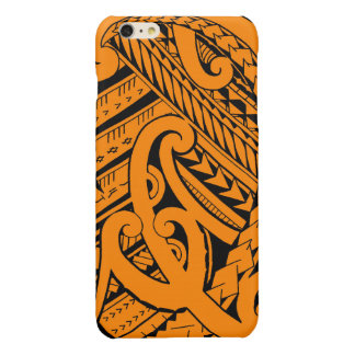 Samoan tribal tattoo design with spearheads glossy iPhone 6 plus case