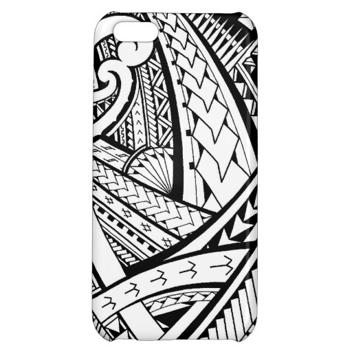 Samoan tribal tattoo design with spearheads iPhone 5C case