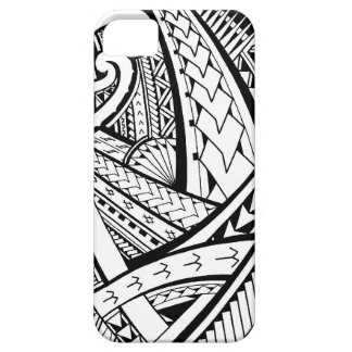 Samoan tribal tattoo design with spearheads iPhone SE/5/5s case