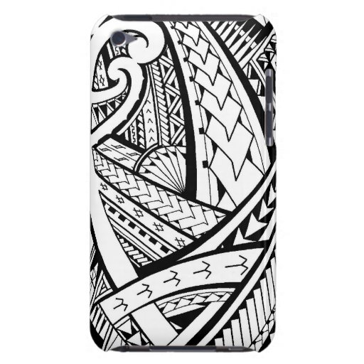 Samoan tribal tattoo design with spearheads iPod Case-Mate case