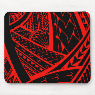 Samoan tribal tattoo design with spearheads mouse pad
