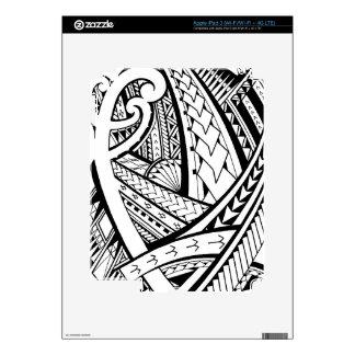 Samoan tribal tattoo design with spearheads iPad 3 decal