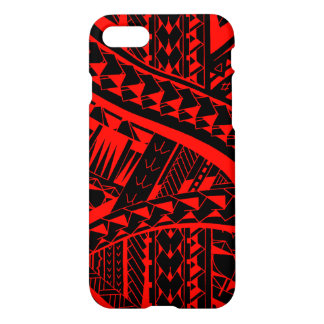 Samoan tribal tattoo pattern with spearheads art iPhone 8/7 case