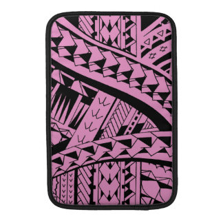 Samoan tribal tattoo pattern with spearheads art MacBook sleeve