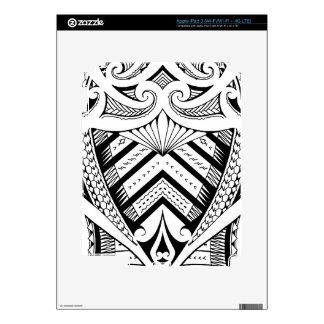 Samoan tribal tattoo sleeve design iPad 3 skins