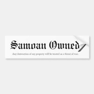 Samoano poseído pegatina de parachoque