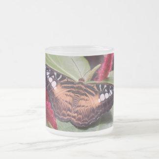 Samon Butterfly 10 Oz Frosted Glass Coffee Mug