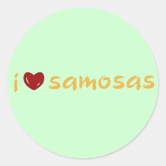 Samosa Love Classic Round Sticker