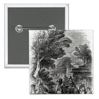 Samoset, the Indian Visitor Pinback Button