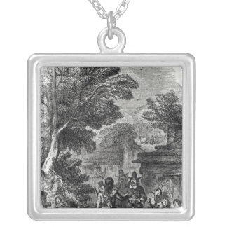 Samoset, the Indian Visitor Silver Plated Necklace