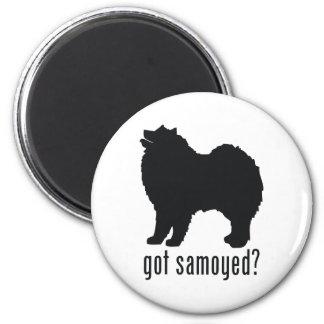 Samoyed 2 Inch Round Magnet