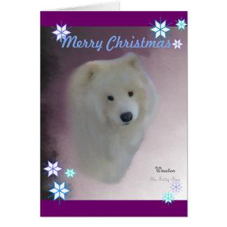 Samoyed A7 Greeting Card,  w/envelope Card