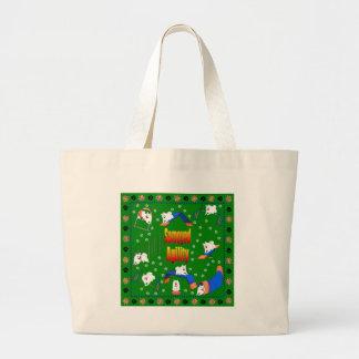 Samoyed Agility Jumbo Tote Bag