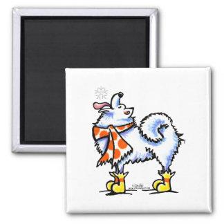 Samoyed American Eskimo Dog Snowflake Magnet