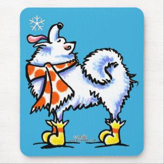 Samoyed American Eskimo Dog Snowflake Mouse Pad