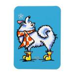 Samoyed American Eskimo Dog Snowflake Vinyl Magnet