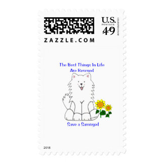 Samoyed Best Things In Life Stamp
